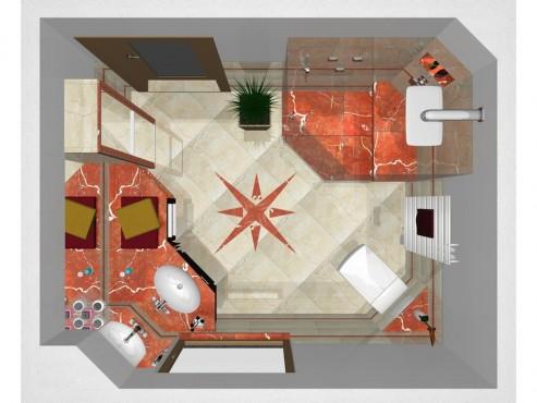 marmorbad mit eckwaschtischanlage walters traumb der. Black Bedroom Furniture Sets. Home Design Ideas