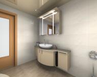 Planungsansicht Waschtischanlage