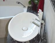Waschtischanlage mit Naturstein