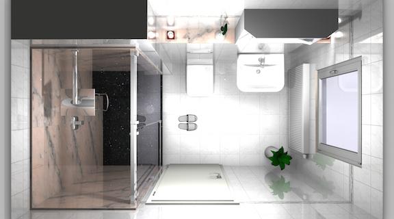 Planungsansicht Duschanlage