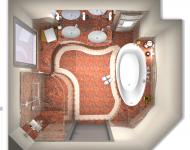 Draufsicht Badezimmer von der Badplanung